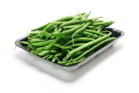 French Beans on White Background photo