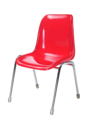 red chair: Red Chair on White Background Stock Photo