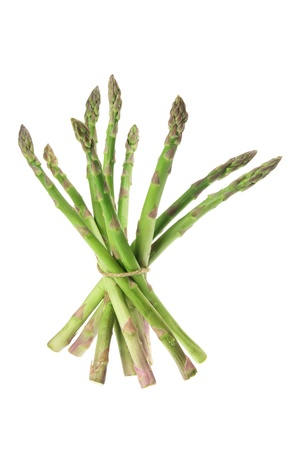 Asparagus on Isolated White Background Stock Photo - 10050005