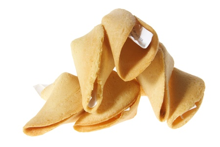 Fortune Cookies on White Background photo