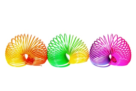 Slinky on Isolated White Background Stock Photo - 10289402