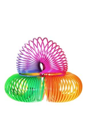 Slinky on Isolated White Background