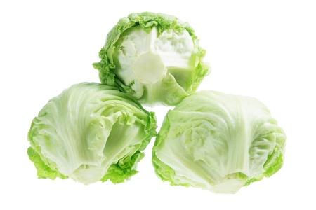 Iceberg Lettuce on White Background photo