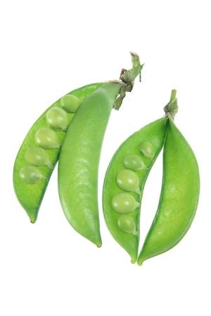 Sugar Snap Peas on White Background photo
