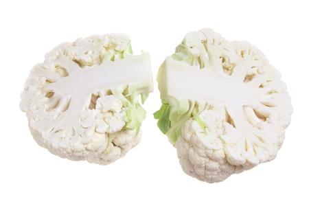 Cauliflower on Isolated White Background photo
