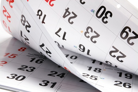 journal intime: Close Up de pages Calendrier