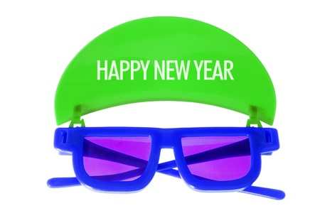 tinted glasses: Sunglasses with Shade on White Background Stock Photo