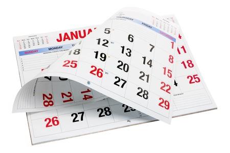 Calendar on Isolated White Background photo