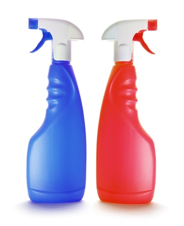 Spray Bottles on White Background Stock Photo - 10465649