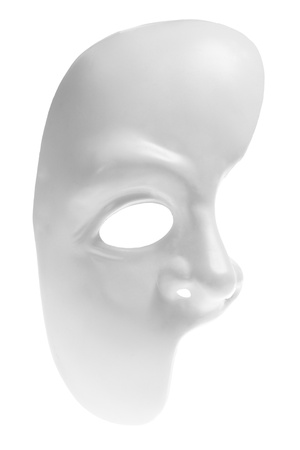 Half Face Mask on White Background photo