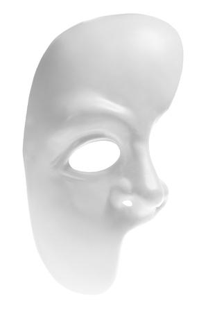 phantom: Half Face Mask on White Background