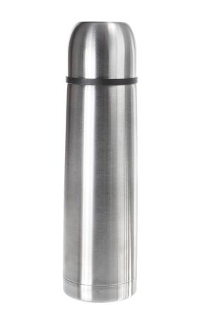 wärmflasche: Vakuum-Flasche auf weißem Hintergrund