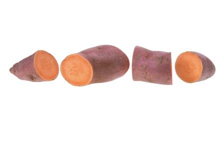Slices of Sweet Potato on White Background Stock Photo - 10529770