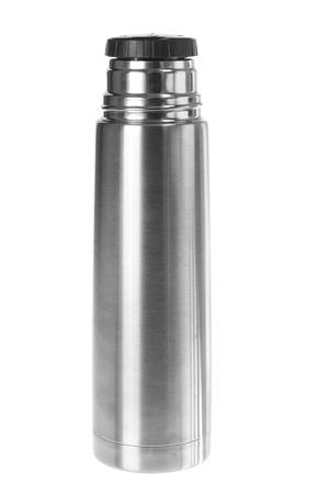 w�rmflasche: Thermoskanne auf wei�em Hintergrund Lizenzfreie Bilder