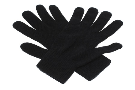 Black Gloves on White Background photo