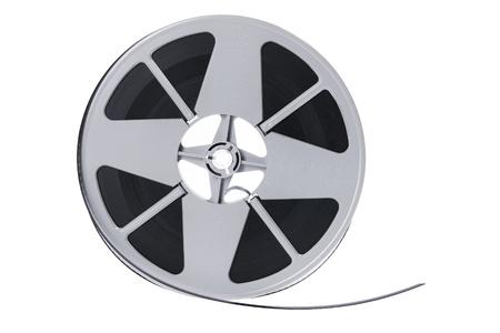 Film Reel on White Background photo