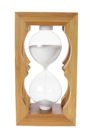 timekeeping: Hour Glass on White Background Stock Photo
