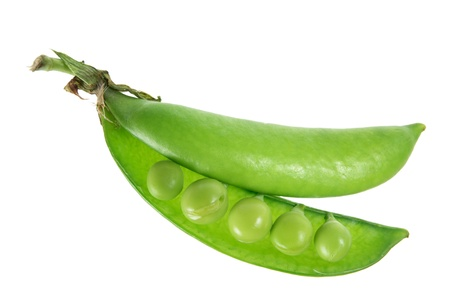 Sugar Snap Pea on White Background photo