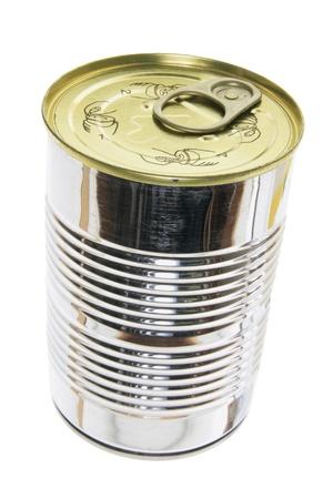 tin can: Tin Can on White Background Stock Photo