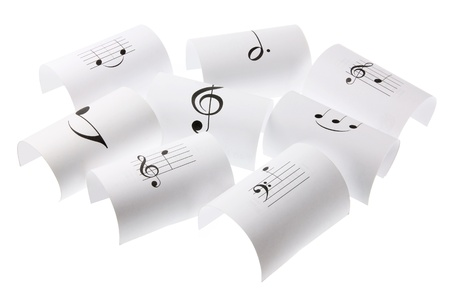 Musical Notes on White Background photo