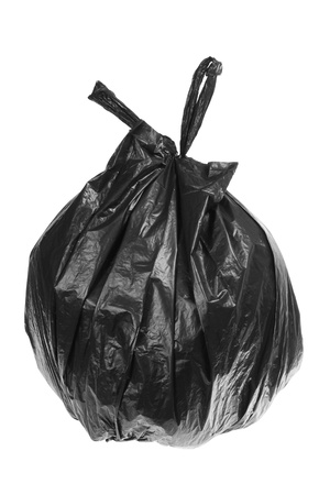 garbage bag: Garbage Bag on White Background Stock Photo