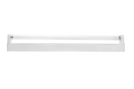 Fluorescent Tube on White Background photo