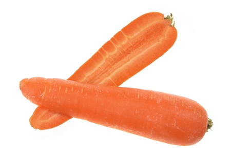 Halves of Carrot on White Background photo
