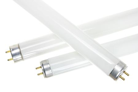 tubos fluorescentes: Cerca de los tubos fluorescentes