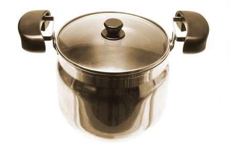 stockpot: Cooking Pot on White Background