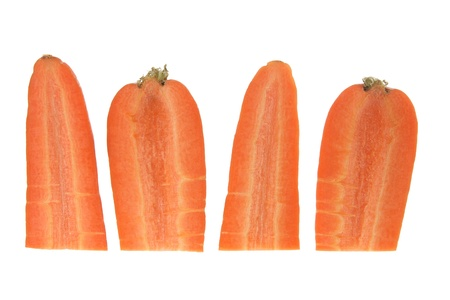 Slices of Carrot on White Background photo