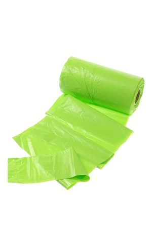 roll out: Garbage Bags on White Background