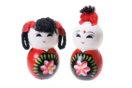 Chinese Figurines on White Background photo