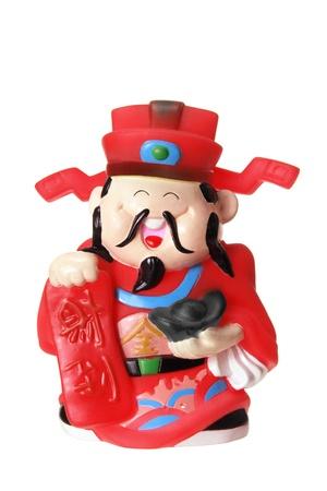 god of wealth chinese new year: God of Prosperity on White Background