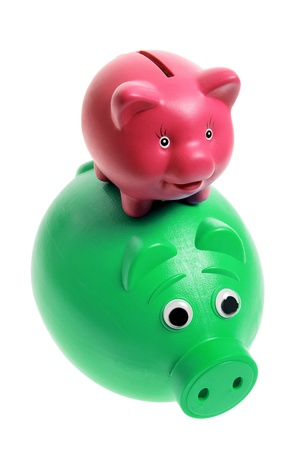 Piggy Banks on White Background Stock Photo - 11078142