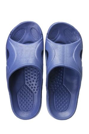 footgear: Slippers on White Background