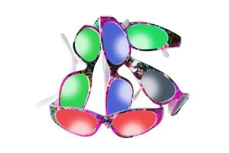 novelties: Sunglasses on White Background