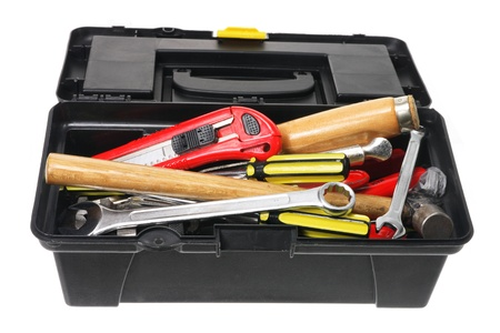 Tool Box on White Background Stock Photo - 11149232