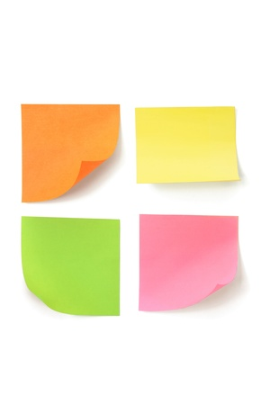Sticky Notes on White Background