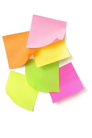 Sticky Notes on White Background Stock Photo - 11149173
