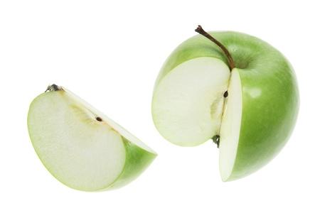 granny smith apple: Granny Smith Apple on White Background