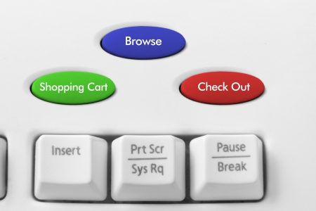 online bidding: Online Shopping Concept with Keyboard