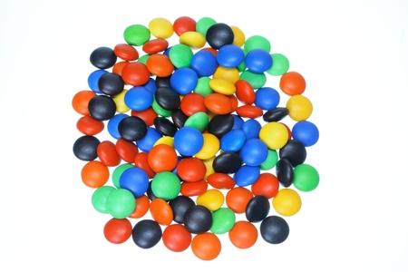 Chocolate Beans on White Background Stock Photo - 11266015