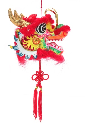 Year of Dragon on White Background photo