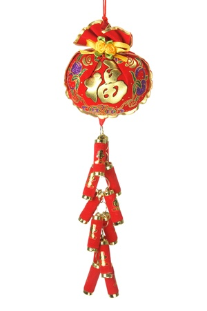 Chinese New Year Decoration on White Background photo