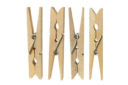 clothespegs: Clothes Pegs on White Background