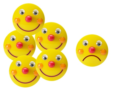 Smiley Toys on White Background