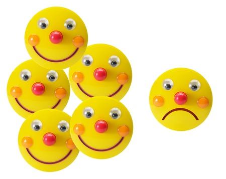 Smiley Toys on White Background photo