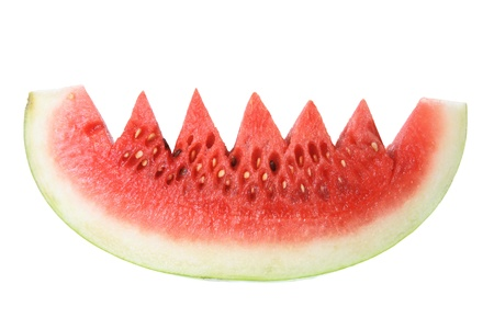 Slice of Watermelon on White Background photo
