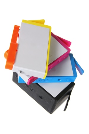 Ink Cartridges on White Background photo