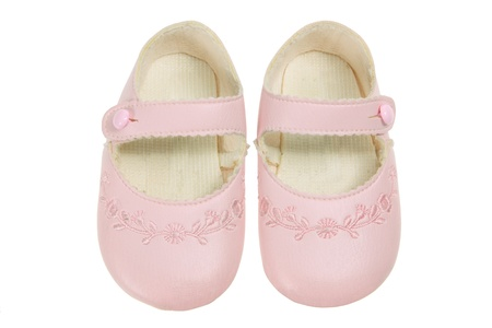 Baby Shoes on White Background photo